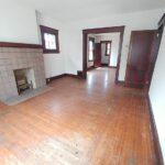 fireplace and floor thru