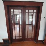 french doors close up